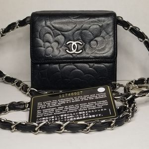 *SOLD*❣Chanel Camillia Bifold Wallet mini Bumm